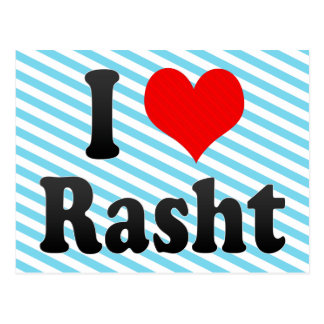 I Love Rasht, Iran Postcard