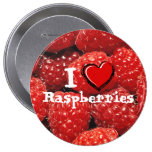 I Love Raspberries Buttons