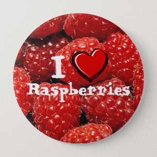 I Love Raspberries Pinback Button