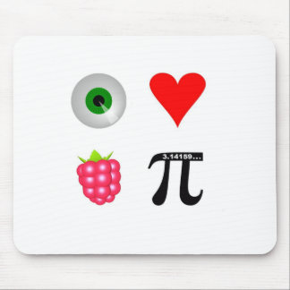 I love Raspberry by www.SimonThePiMan.com Mouse Pad