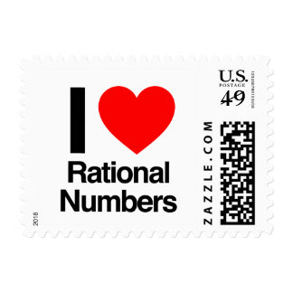 i love rational numbers postage stamps