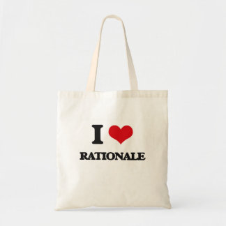 I Love Rationale Tote Bags