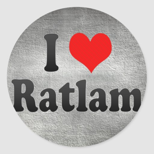 I Love Ratlam, India. Mera Pyar Ratlam, India Stickers