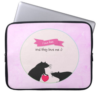 I Love Rats and They Love Me Laptop Sleeve
