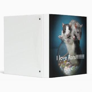 I love rats!!!! vinyl binders