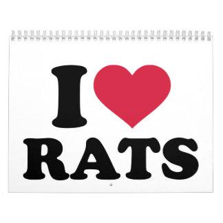 I love Rats Calendar