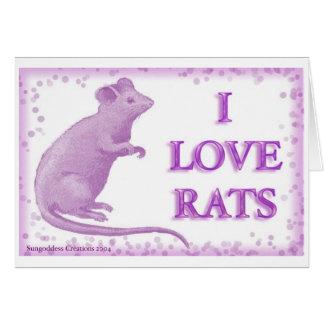 I love rats card