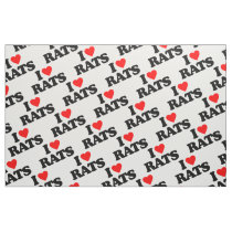 I LOVE RATS FABRIC