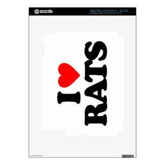 I LOVE RATS iPad 3 SKIN