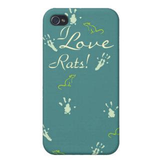 I love Rats iPhone case