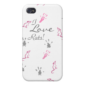 I love Rats iPhone case iPhone 4/4S Covers
