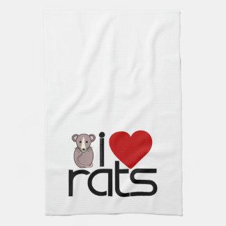 I Love Rats Kitchen Towel