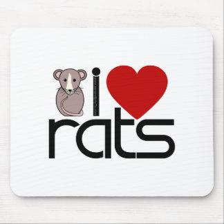 I Love Rats Mouse Pad