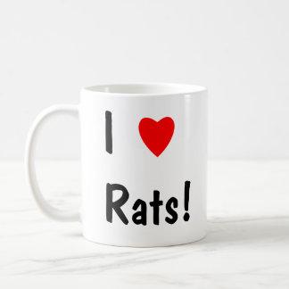 I love rats! mug