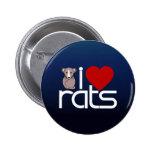 I Love Rats Pin