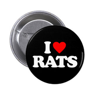 I LOVE RATS PINBACK BUTTON
