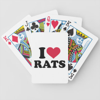 I love Rats Bicycle Playing Cards