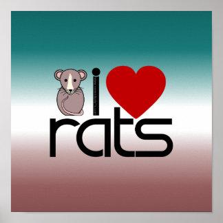 I Love Rats Posters