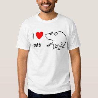 I Love Rats T Shirt