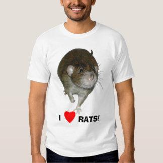 I Love Rats! Tee Shirt