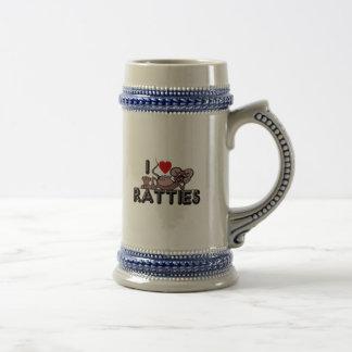 I Love Ratties Beer Stein