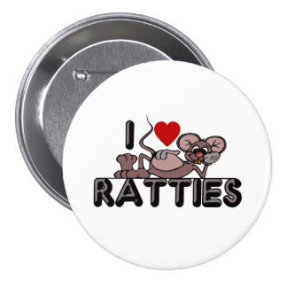 I Love Ratties Button