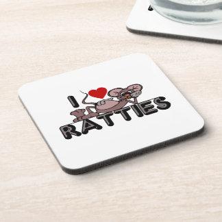 I Love Ratties Coaster