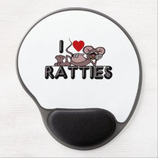 I Love Ratties Gel Mouse Pad