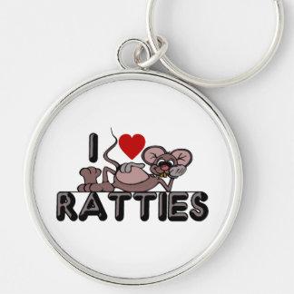 I Love Ratties Keychain