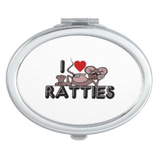 I Love Ratties Mirror For Makeup