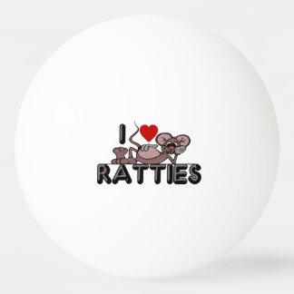I Love Ratties Ping-Pong Ball