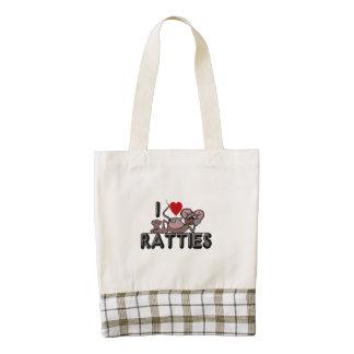 I Love Ratties Zazzle HEART Tote Bag
