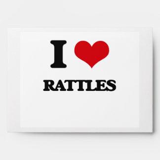 I Love Rattles Envelopes