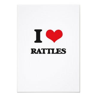 I Love Rattles 5x7 Paper Invitation Card