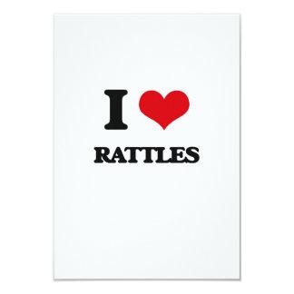 I Love Rattles 3.5x5 Paper Invitation Card