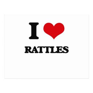 I Love Rattles Postcard