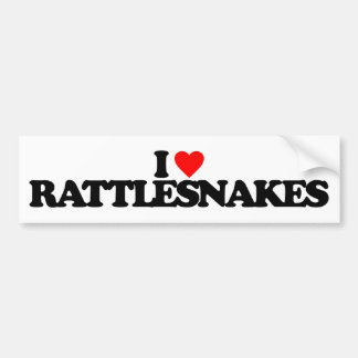 I LOVE RATTLESNAKES BUMPER STICKER