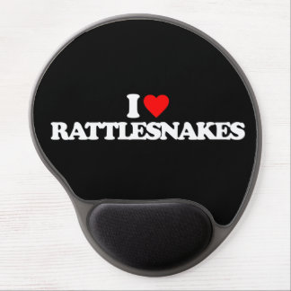 I LOVE RATTLESNAKES GEL MOUSE PAD