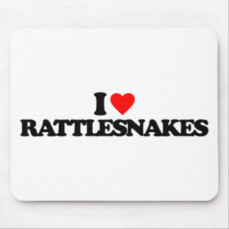 I LOVE RATTLESNAKES MOUSE PAD