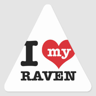 I Love Raven Triangle Sticker