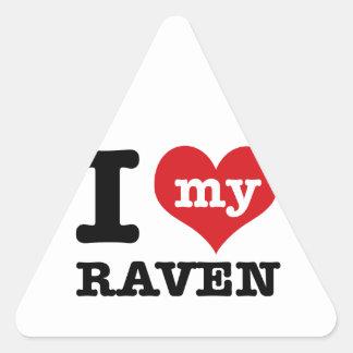 I Love Raven Triangle Sticker