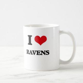 I Love Ravens Coffee Mug