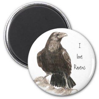 I love Ravens Fridge Magnet magnet