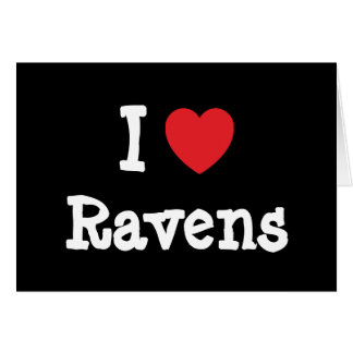 I love Ravens heart custom personalized Card