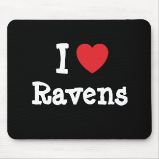 I love Ravens heart custom personalized Mouse Mats