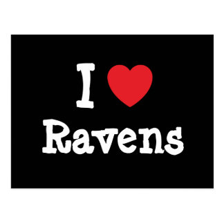 I love Ravens heart custom personalized Postcards