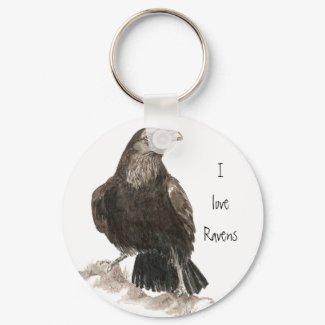 I love Ravens Keychain keychain