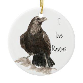 I love Ravens Ornament ornament