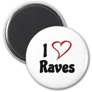 I Love Raves 2 Inch Round Magnet