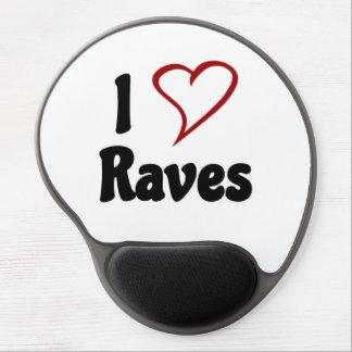I Love Raves Gel Mouse Pad